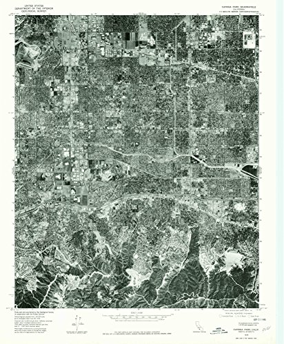 Canoga Park CA topo map, 1:24000 scale, 7.5 X 7.5 Minute, Historical, 1976, updated 1980, 26.7 x 22 IN - Paper
