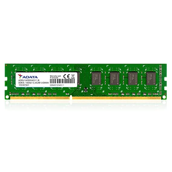 ADATA Premier 8GB RAM DDR3 1600Mhz 240 Pin Memory Module for Desktop Memory at amazon