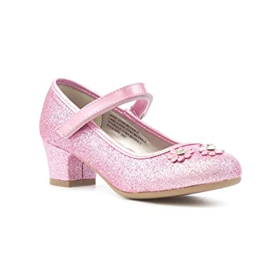 Lilley sparkle girls pink flower party shoe amazon shoes bags lilley sparkle girls pink flower party shoe size 2 uk pink mightylinksfo