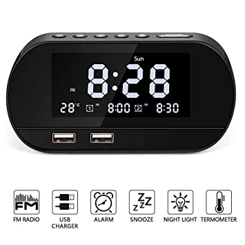 Amazon.com: Bestimulus - Reloj despertador digital con ...