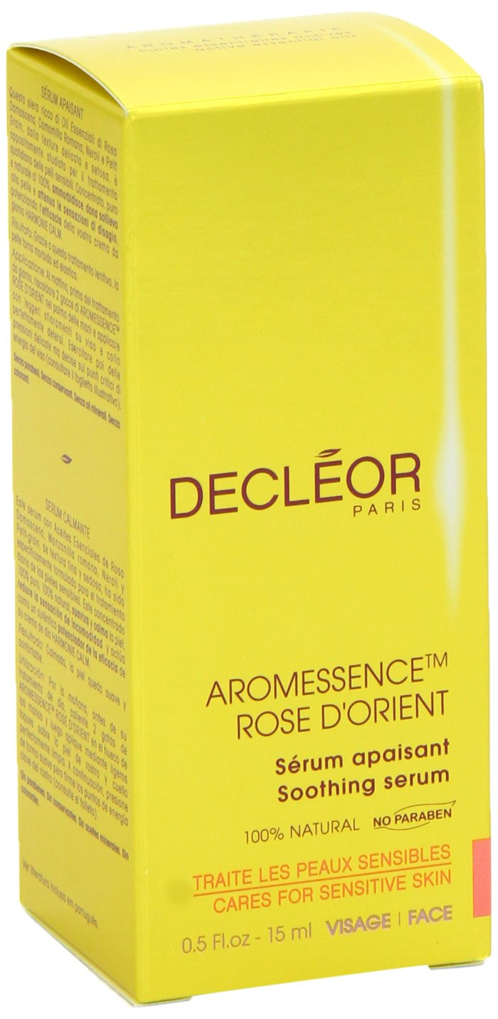 Decleor Aromessence Rose DOrient Soothing Serum .5 oz/15ml Anti Cellulite Massage Oil and Treatment -100% All Natural Deep Penetrative Formula Firms, Tightens, and Tones Skin and Helps Breaks Down Fat Tissue - Regenerates and Moisturizes - By Venu