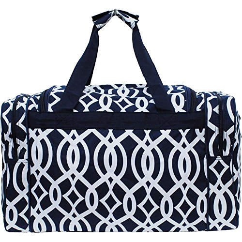 Vine Pattern Print 20 Inch Duffle Bag (Navy)