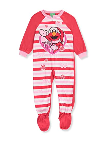 1601883fd7 Image Unavailable. Image not available for. Color  Sesame Street Elmo  Christmas Blanket Sleeper Pajamas ...