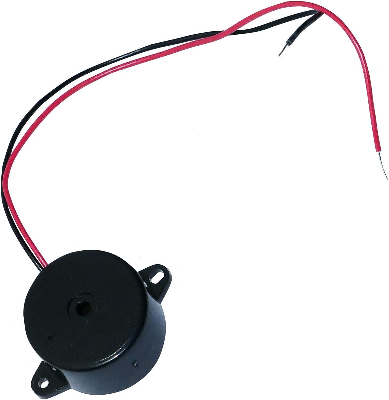 Aerzetix Summer Buzzer Für Vergessen Scheinwerfer Kontrollleuchte Blinker Akustisches Oder Vorrichtung 1 5 30 3v 6v 12v 24v 80db 24 X 9 5 Mm Auto