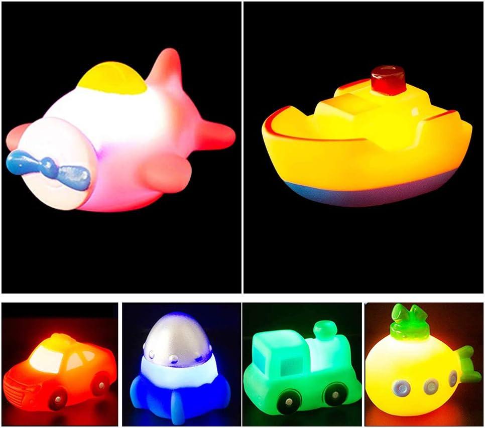 Sensor t/áctil Bonbela 6 Piezas de Juguete de ba/ñera Flotante Iluminado con luz LED Juguete de ba/ño Luminoso para ni/ños peque/ños
