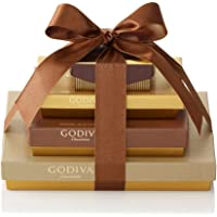 Godiva Chocolatier Sweet Surprise Gift Tower, Chocolate Variety Gift Basket, Great for Hostess Gifts, 46 Count