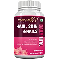MuscleXP Biotin Hair Skin and Nails Complete Multivitamin with Amino Acids - 60 Tablets