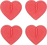 Crab Grab Unisex Mini Hearts Traction Pads 4 pack Red