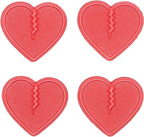 Crab Grab Unisex Mini Hearts Traction Pads 4 pack Red by Crab Grab
