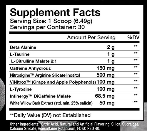 GenetX #1 Nitric oxide Pre workout. Two stage caffeine release, Creatine Free, Red Apple, 30 servings