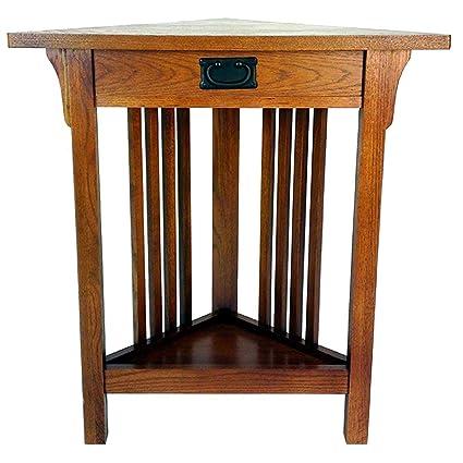 Amazon Com Wayborn Home Furnishing Corner End Table In Birchwood Brown Kitchen Dining