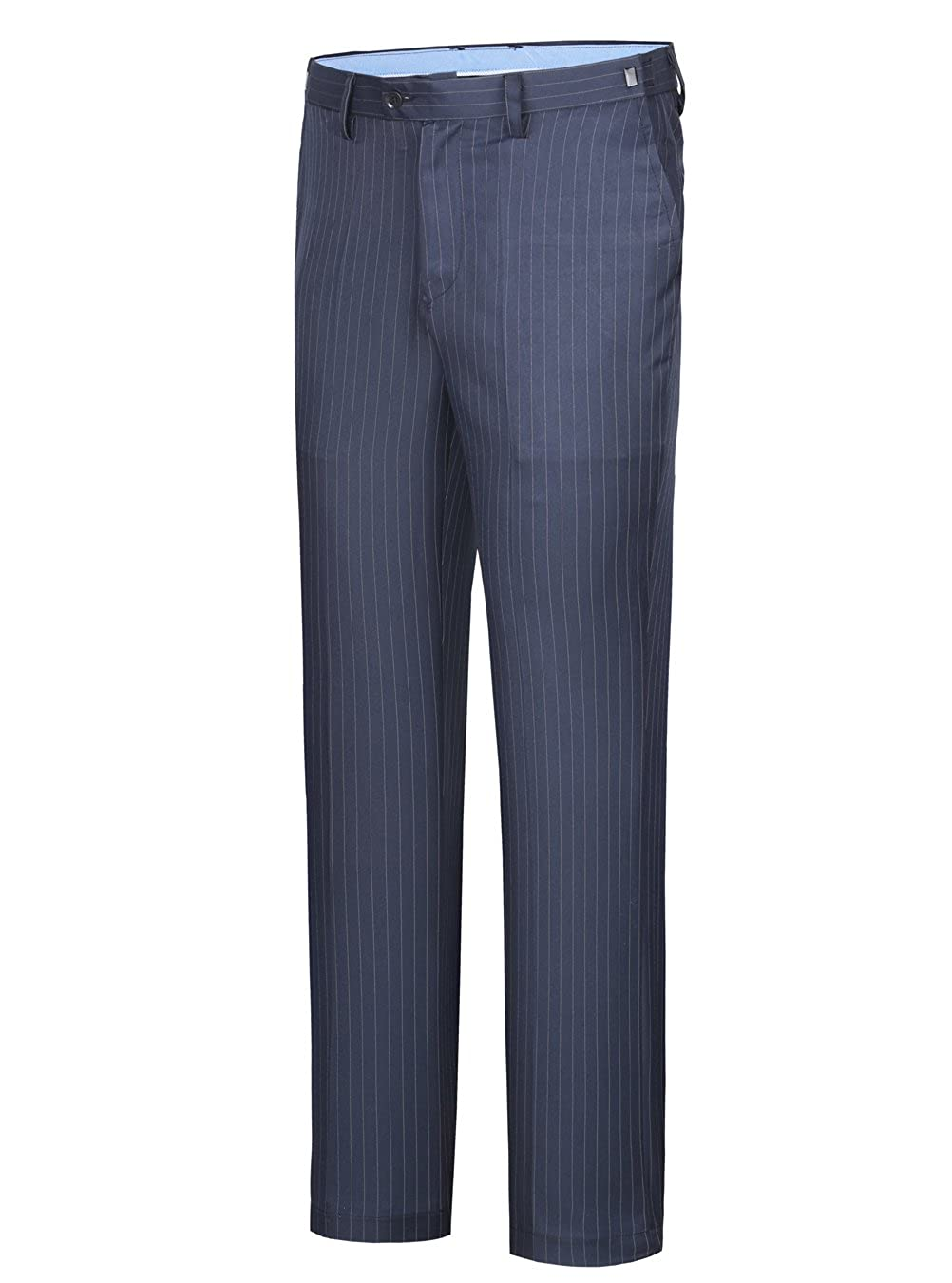 CMDC Mens Formal Dress Pants Wrinkle-Free Stripes Suit Trousers More Sizes