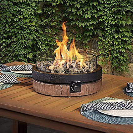 amazon com north woods 16 inch northwoods outdoor patio table top rh amazon com patio fire table sets patio table fire pit insert