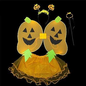 JX Disfraz de ángel de Halloween Niños, niñas Hada Falda de ...