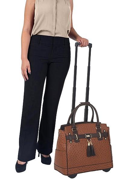 7511449882 Amelie Damask Rolling Tote Bag