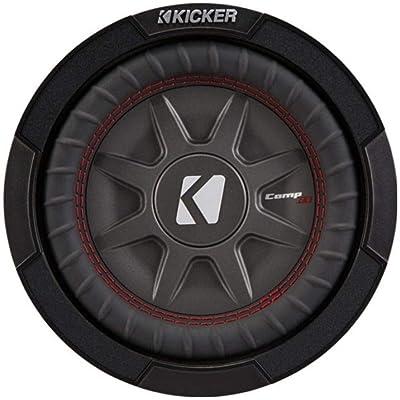 Kicker 8 Inch Dual 600 Watt CompRT 2 Ohm Shallow Slim Car Subwoofer | 43CWRT82: Electronics