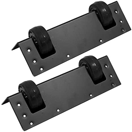 Seismic Audio - SAWHB30-2Pack - Pair of Dual Wheel Kits for Stage Type PA  Speaker Cabinets - Makes heavy and bulky Speakers Portable