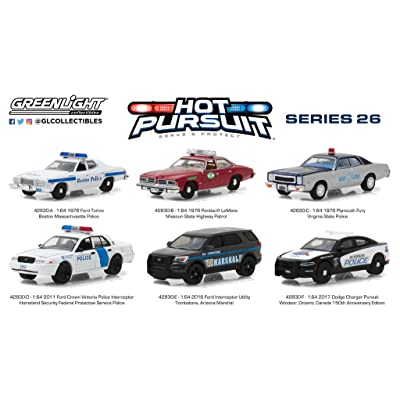 Hot Pursuit Series 26 Set of 6 Cars 1/64 Diecast Model Cars by Greenlight 42830: Toys & Games