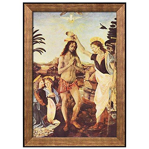 The Baptism of Christ by Leonardo Da Vinci Framed Art