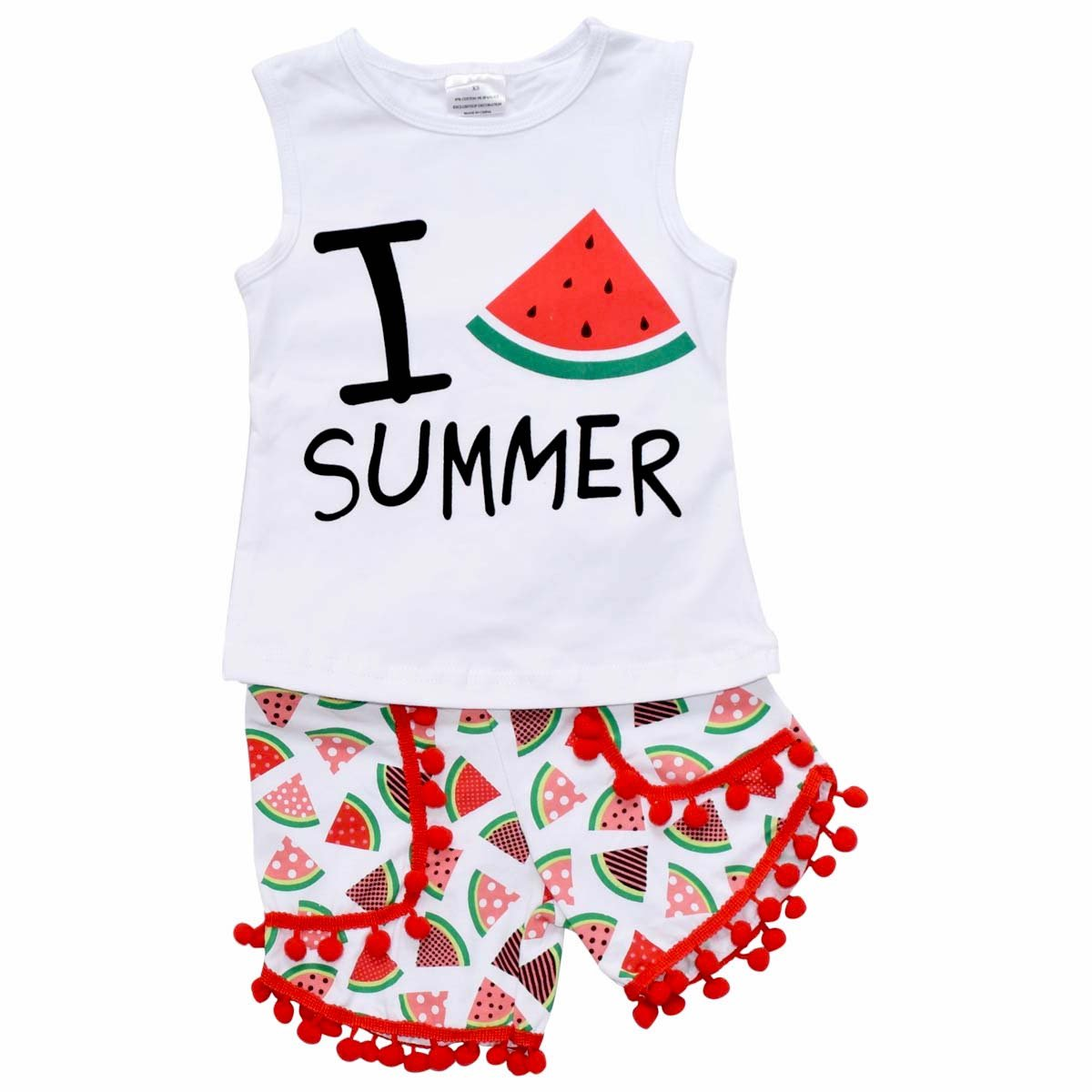 Unique Baby Girls Summer Watermelon Outfit