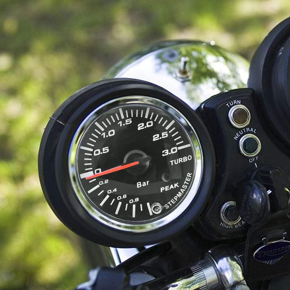Man/ómetro de presi/ón Turbo Boost 2.5 pulgadas 60 mm 3.0 Bar LED Modificaci/ón de autom/óvil Indicador de man/ómetro Turbo Boost Puntero DC12V