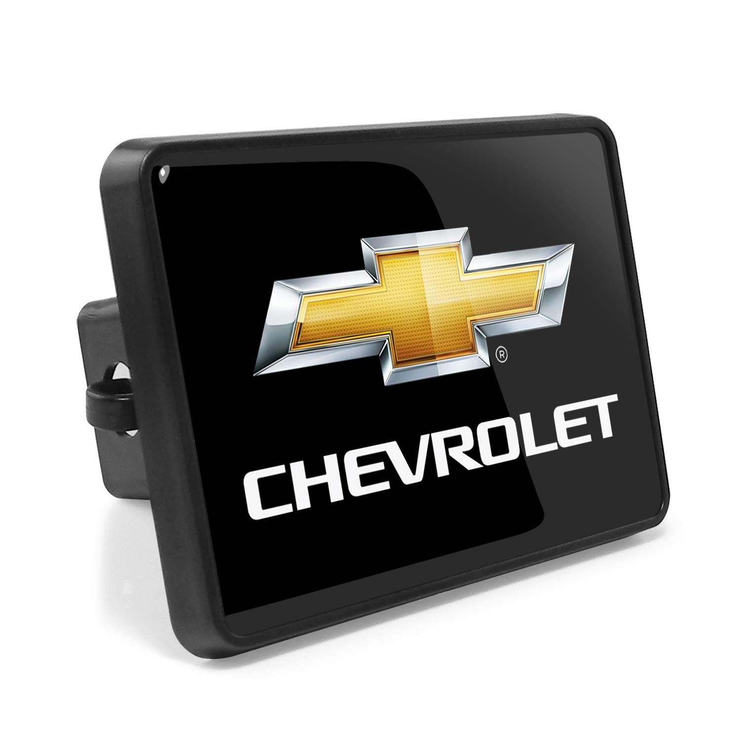 Chevrolet UV Resistant Graphic Black Metal Plate on ABS Plastic 2 Tow Hitch Cover iPick Image for