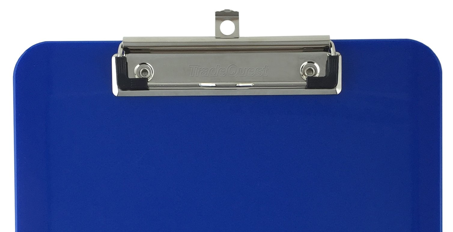 Trade Quest Plastic Clipboard Opaque Color Letter Size Low Profile Clip (Pack of 6) (Dark Blue) by Trade Quest (Image #6)
