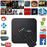 MXQ Pro Quad-core Android 5.1 OTT TV BOX 4Core 64-bit CPU 1GB RAM 8GB ROM Decoding H.265/ H.264 Streaming Media Players/ Internet TV With Netflix/ Kodi Fully Loaded