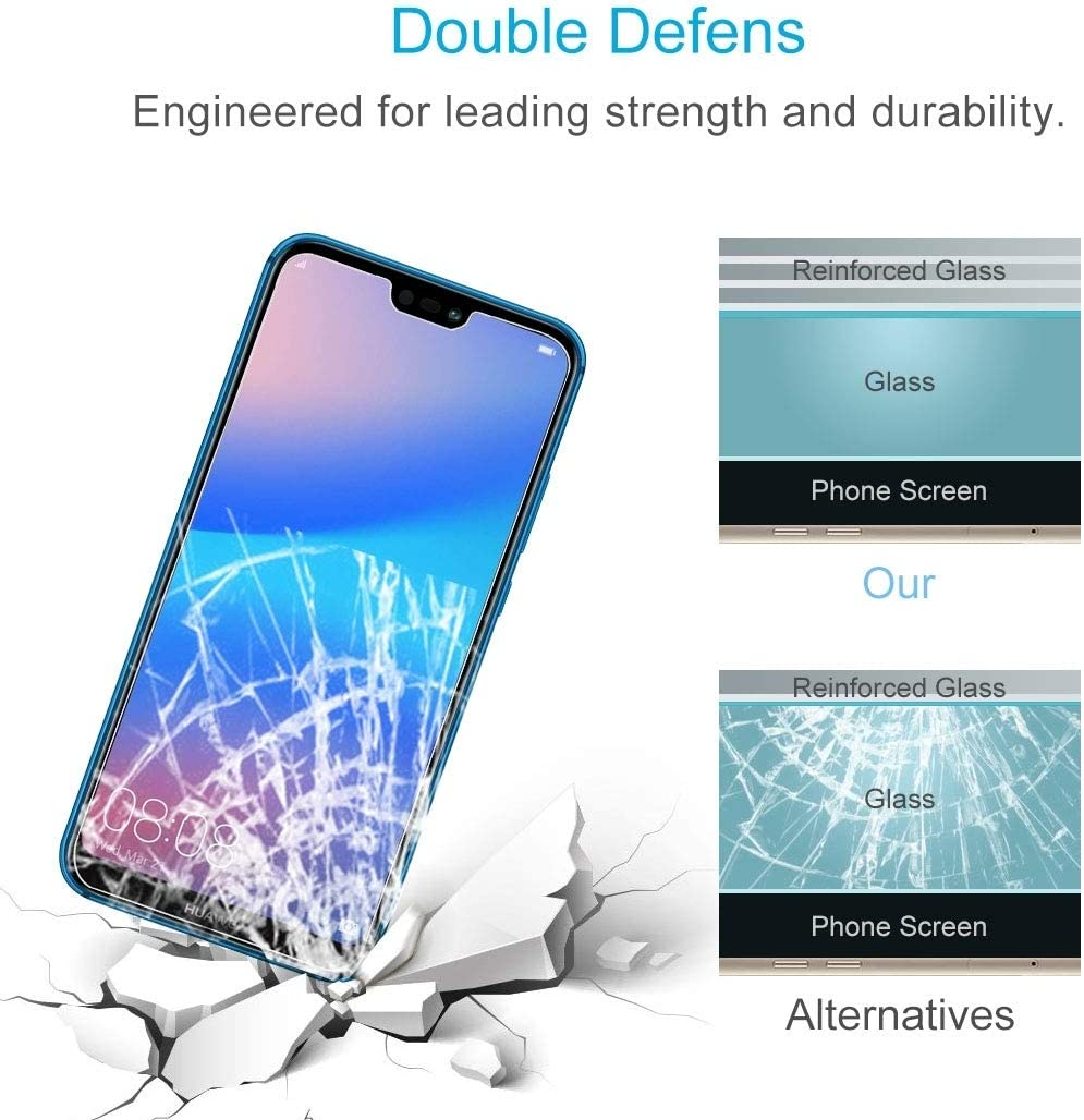 JIN Screen Protector 100 PCS for Huawei P20 Lite 0.26mm 9H Surface Hardness 2.5D Explosion-Proof Tempered Glass Screen Film