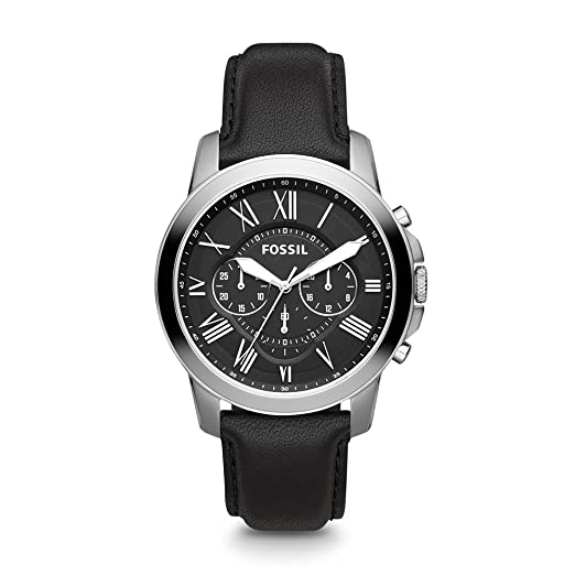 11c5442fe7ed Buy Fossil Grant Chronograph Black Dial Men s Watch - FS4812 Online at Low  Prices in India - Amazon.in