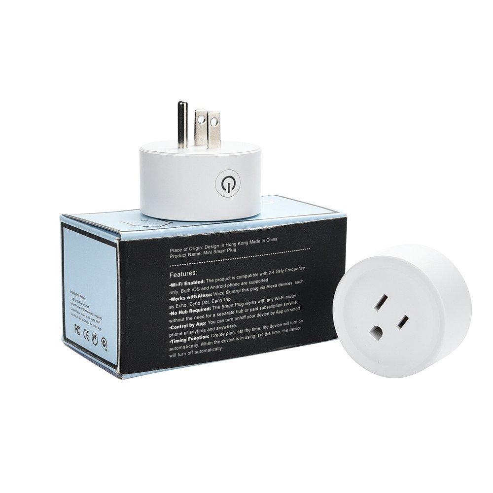Wifi Smart Plug-Dressffe 2 Pack WiFi Smart Plug Timing Switch Voice Control Work with Amazon Alexa Echo, UK Plug