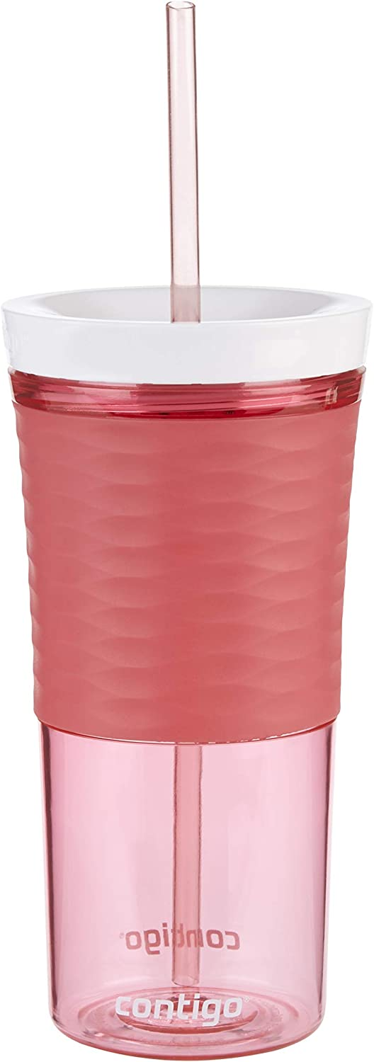 Watermelon Large BPA Free Drinking Bottle Water Water Bottle with Straw and Lid Contigo Autoclose Shake and Go Tumbler 530 ml Ideal for Iced Coffee Smoothies and Shakes