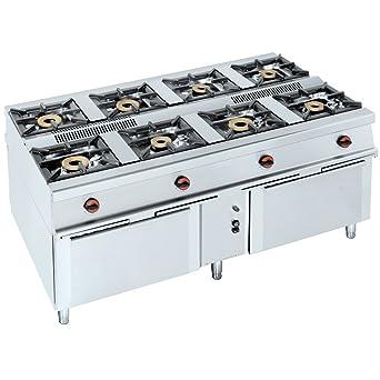 Eurast 40010M08 Cocina Central A Gas Serie 8: Amazon.es ...