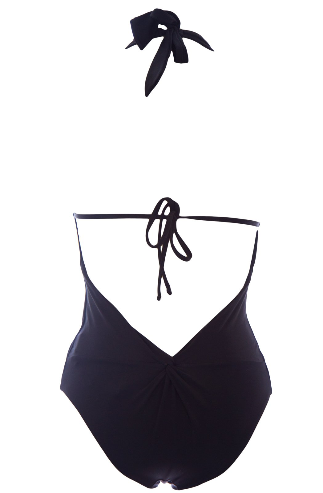 Giorgio Armani Women's One-Piece Halter Swimsuit with Straps Medium Black by GIORGIO ARMANI (Image #2)