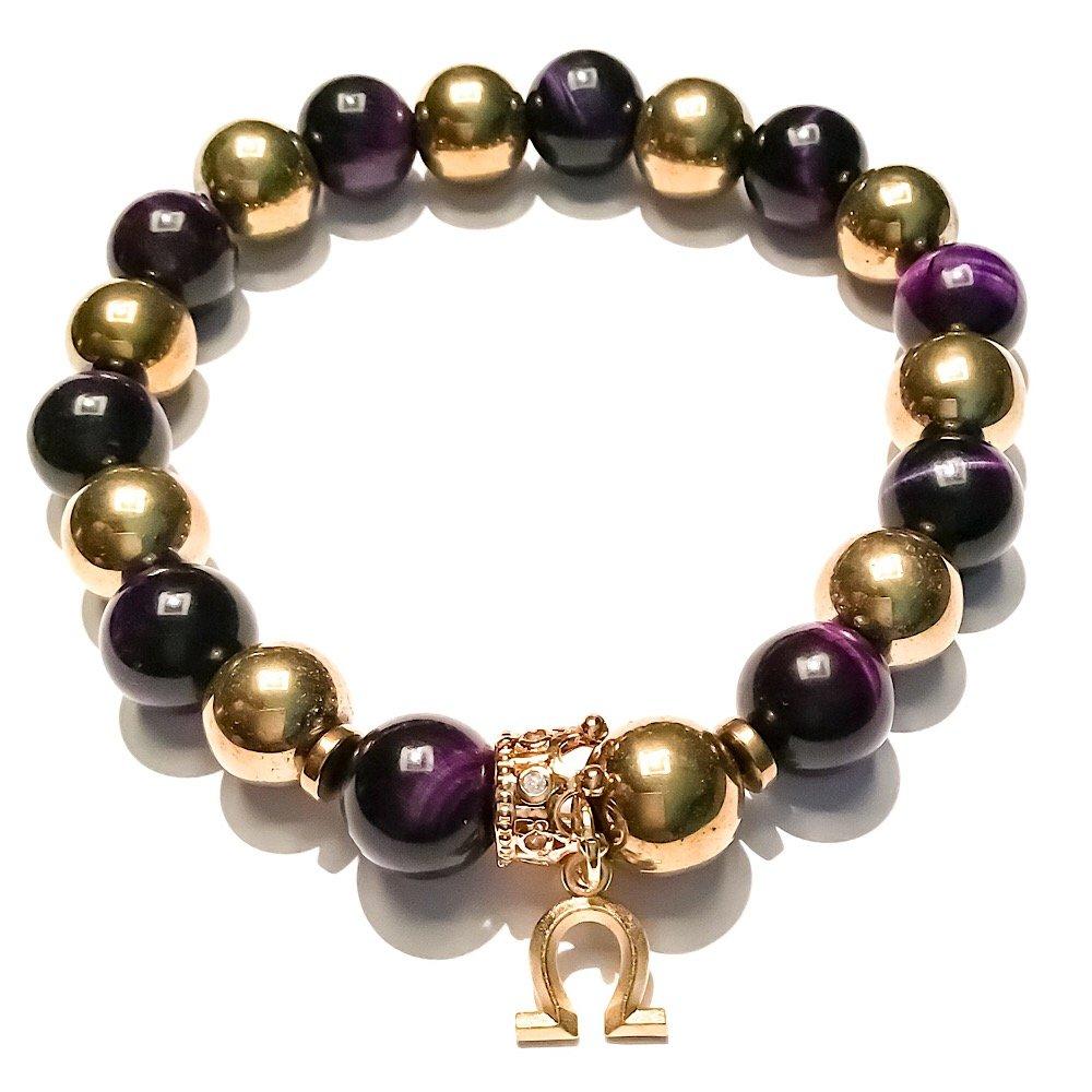 Stonez Omega Psi Phi Beaded Bracelet by Stonez
