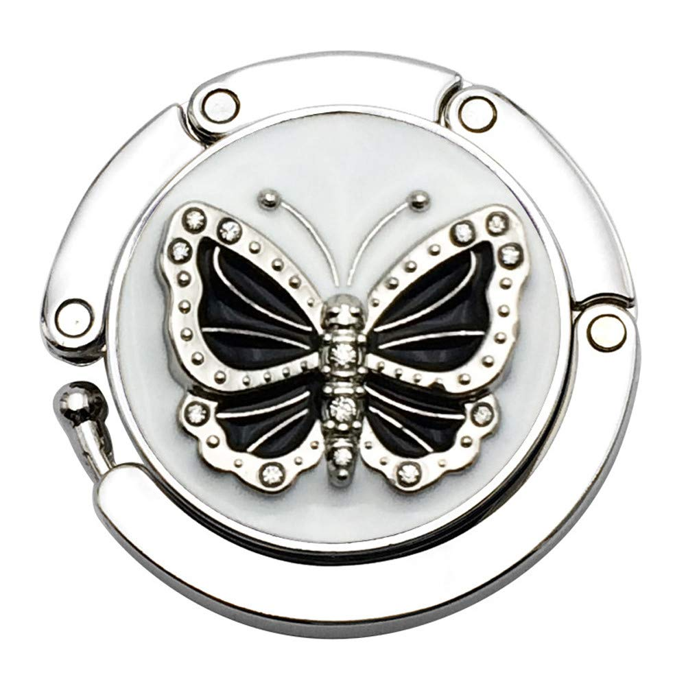 Saying Mini Butterfly Beetle Folding Hanger, Holder Table Hook for Purse Handbag, Durable Key Holder, Ideal for Kitchen, Bathroom, Hallway, Living Room, Desk Side (Style - a)