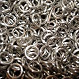 "Aluminum Chain Mail Rings, 1lb, 16g 5/16"", 8mm ID, 3,100 Rings"