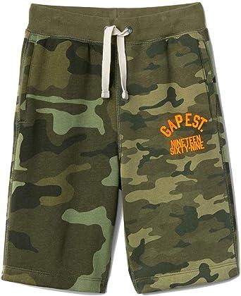 Amazon Com Gap Kids Pantalones Cortos De Punto De Forro Polar Para Ninos Diseno De Camuflaje Verde Xl 12 Clothing