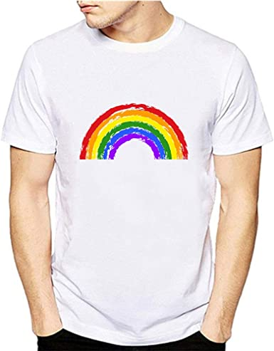Stylevike Camiseta de Orgullo Gay con Estampado de arcoíris LGBT, Camiseta Hipster para Hombre, Ropa de Amor LGBT - - Small: Amazon.es: Ropa y accesorios