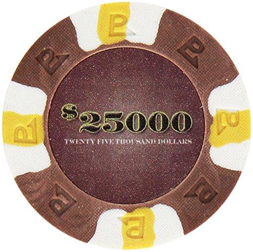 Trademark Poker NexGEN 6000 Series PRO Classic Style Poker Chips (Set of 50), 9gm, Brown