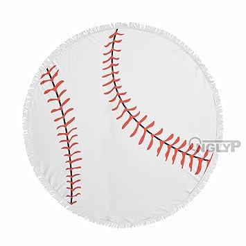 Amazon.com: Toalla de playa redonda onglyp béisbol y ...