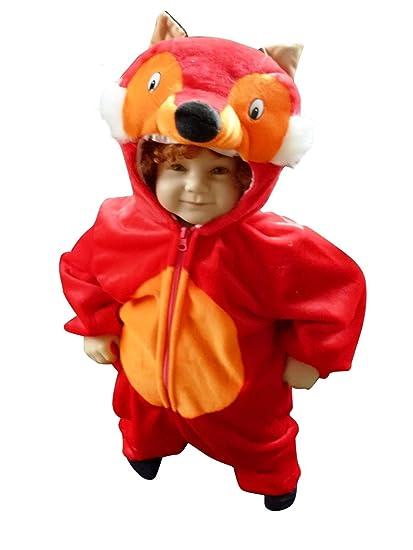 F21 Tamaño 2-3 años de llevar zorro traje para bebés y niños pequeños cómodamente sobre la ropa normal