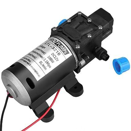 Keenso 12V Membran Selbstansaugende Wasserpumpe 60Watt 5L//Min 116Psi Hochdruckwasserpumpe Intelligentes Ventil mit Druckschalter f/ür Autowaschmaschine Solarenergie Wasserpumpe