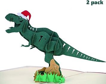 Amazon.com: Tarjeta de felicitación 3D de dinosaurio de ...