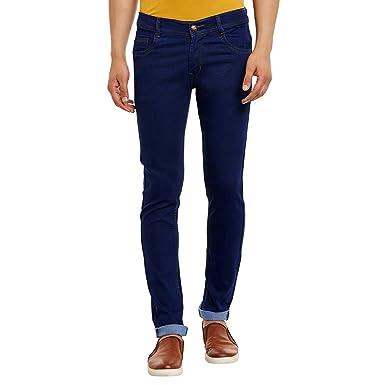 cf77d9e1 Waiverson Slim Fit Men's Dark Blue Jeans: Amazon.in: Clothing ...