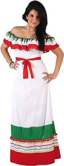 Atosa-12008 Disfraz Mejicana, color blanco, XL (12008): Amazon.es ...