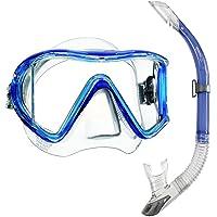 Mares i3 Einglasmaske Tauchermaske + Sailor Ventil-Schnorchel