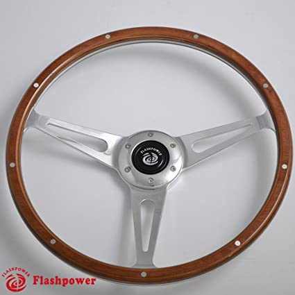 79d763c1d96149 Amazon.com: 15'' Classic Riveted wooden steering wheel Restoration Mustang  Shelby AC Cobra: Automotive