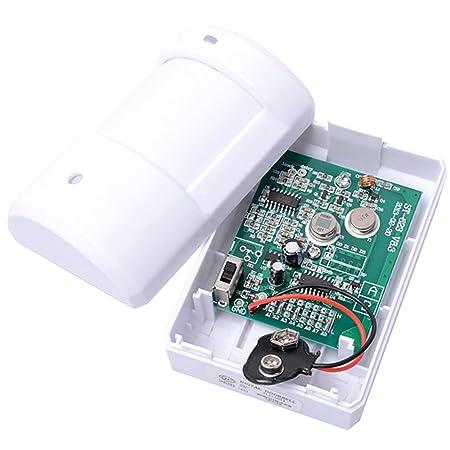 Rasgo-Tech inalámbrico mennon Detector de timbre para puerta entrada despertador musical con 1 mando a distancia y botón de 1 receptor en de funcionamiento ...