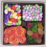 Scott's Cakes Large 4-Pack Jordan Almonds, Chocolate Dutch Mints, Peach Rings, & Pectin Fruit Gels